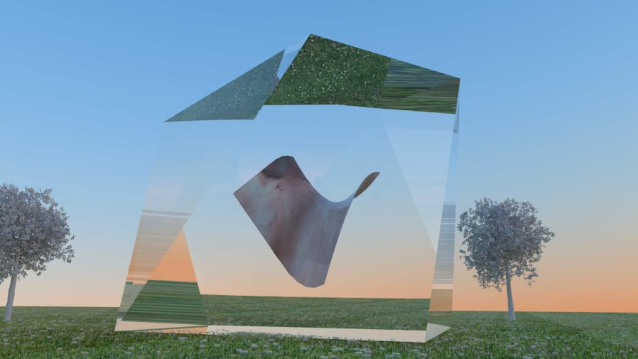 Floating abstract object