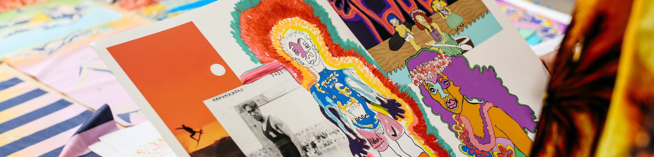 Collage by Edward Mendoza, BA Fashion: Fashion Print, Central Saint Martins