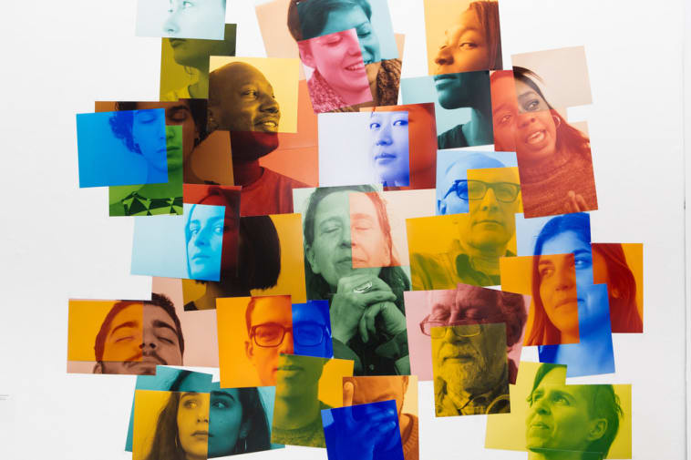 Colourful collage of protraits