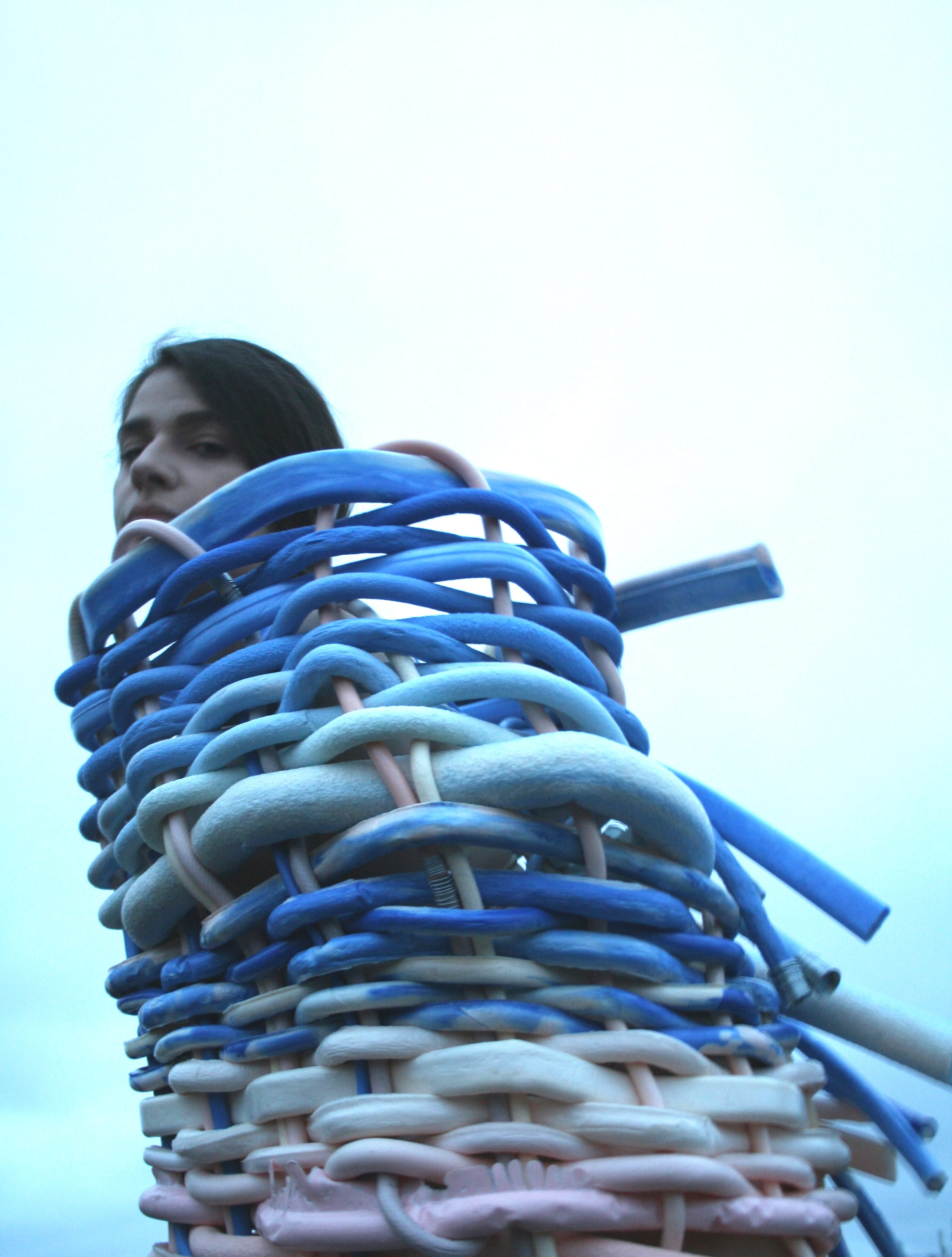 Grad-Dip-FDT-Iga-Kampa-01-blue-cream-and-pink-woven-pipe-wired-piece.jpg