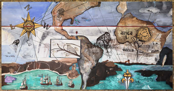 Cartographic painting