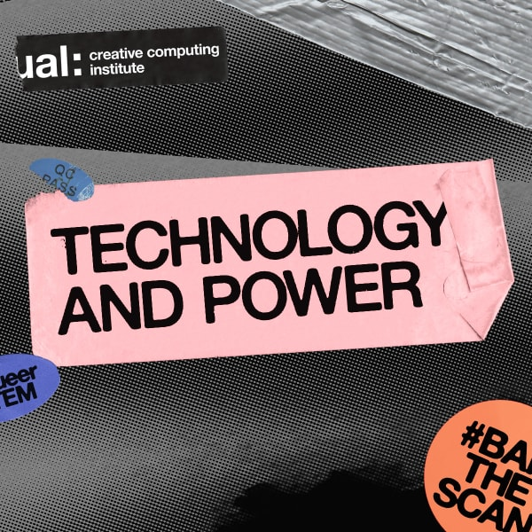 Banner with the words Technology and Power