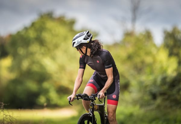 a cyclist wearing Sundried clothing