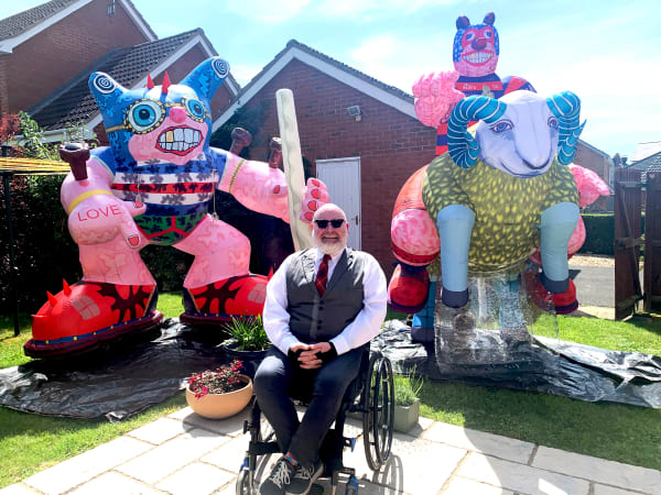 A picture of Jason Wilsher-Mills and his work