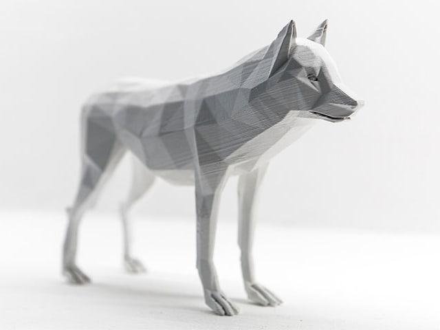 Angular white model of a dog