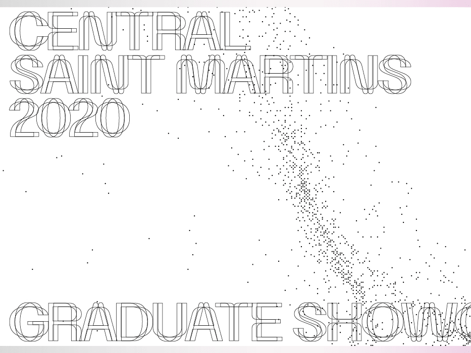 Graphic reading Central Saint Martins Graduate Showcase
