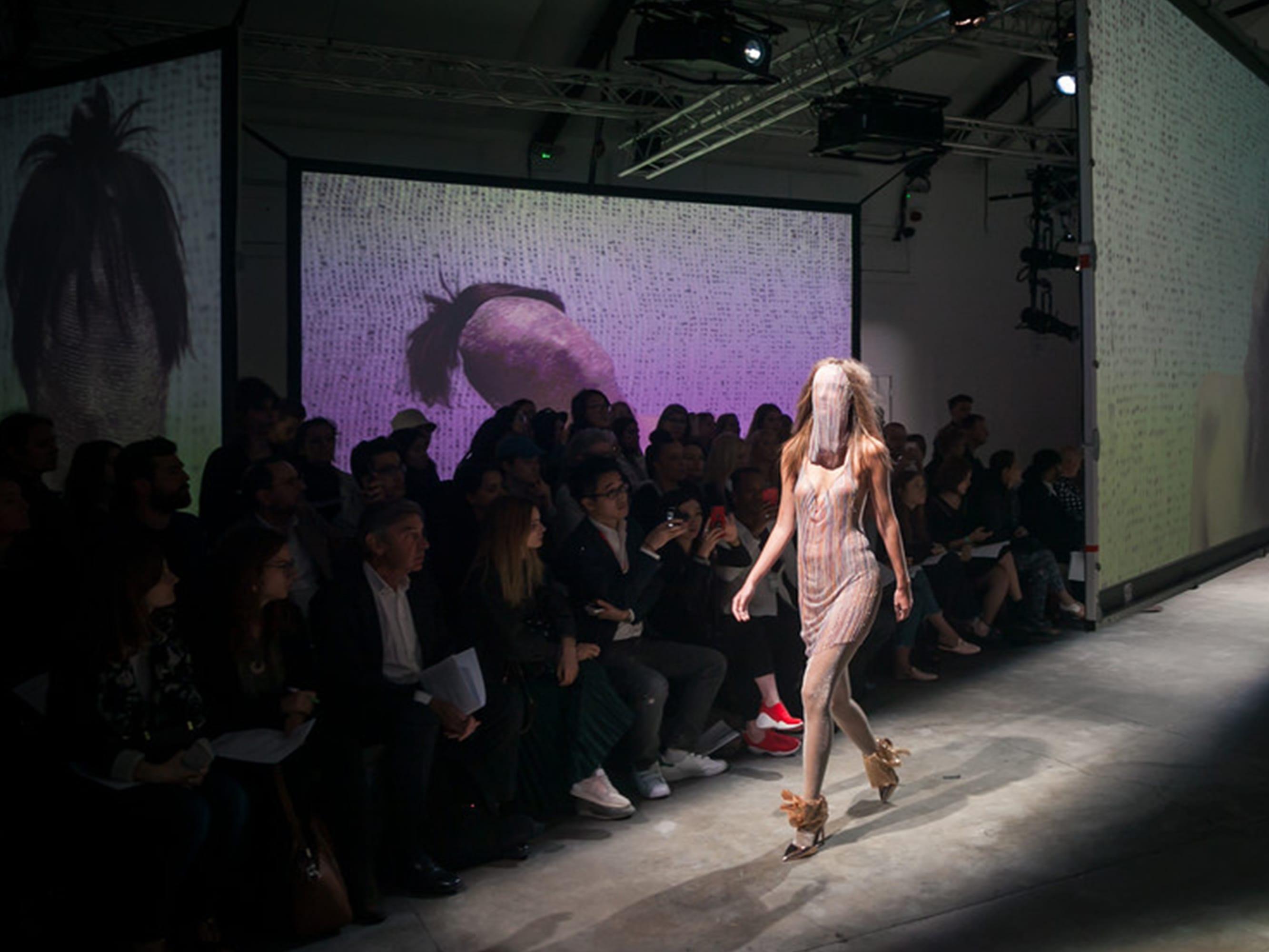 Model at a catwalk show