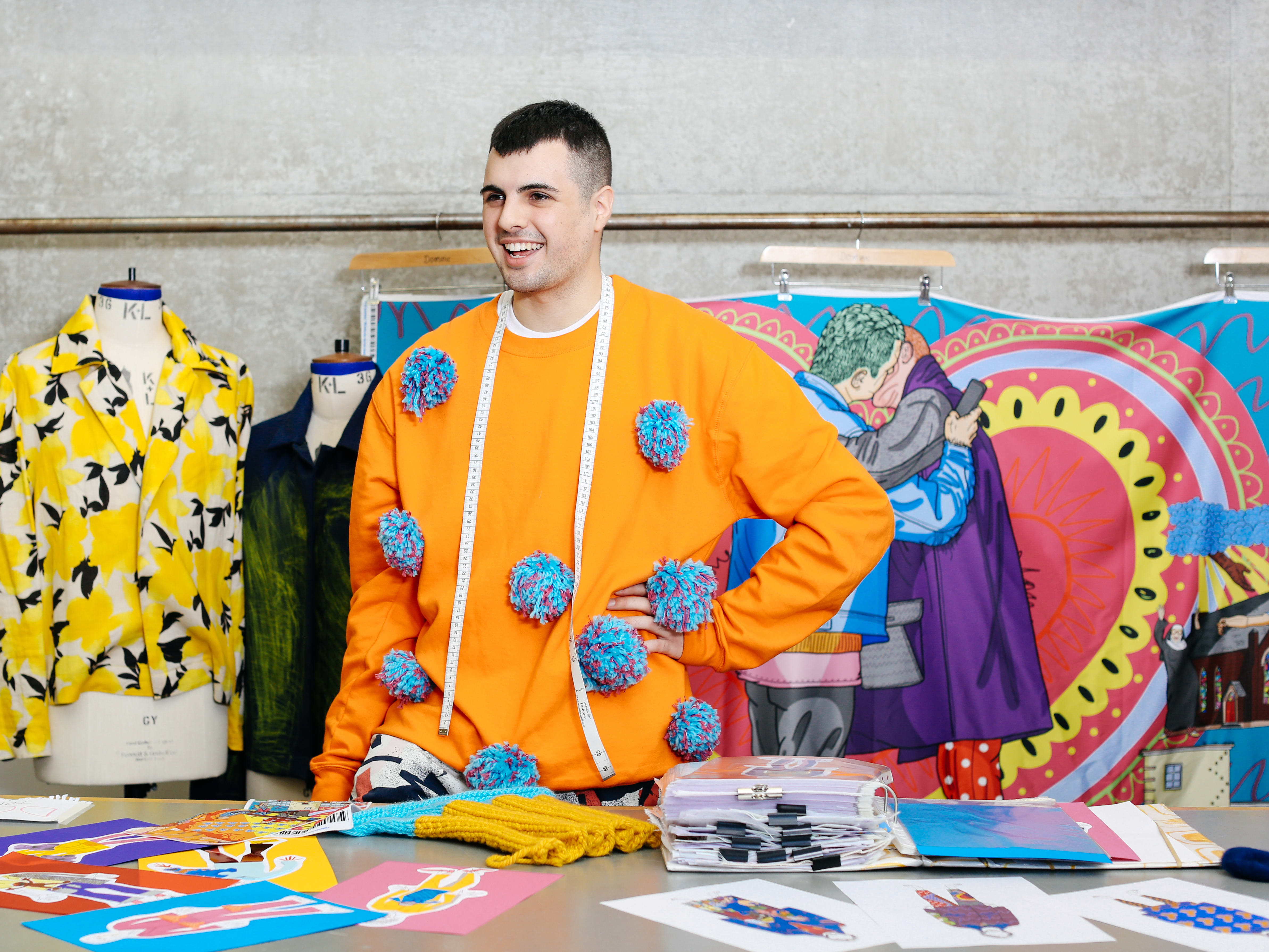 Dominic, a student from Central Saint Martins
