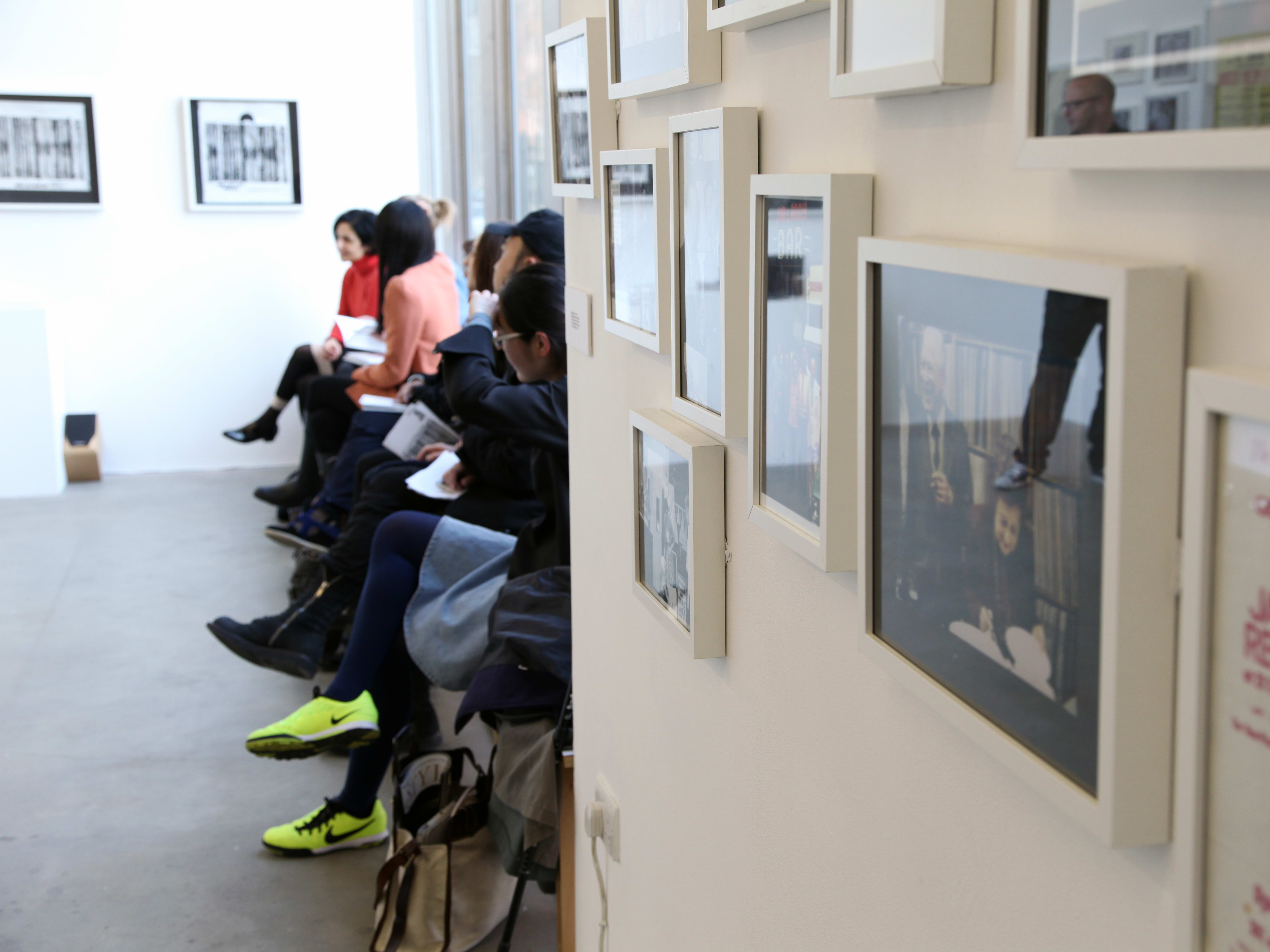 Students in Chelsea Space Gallery