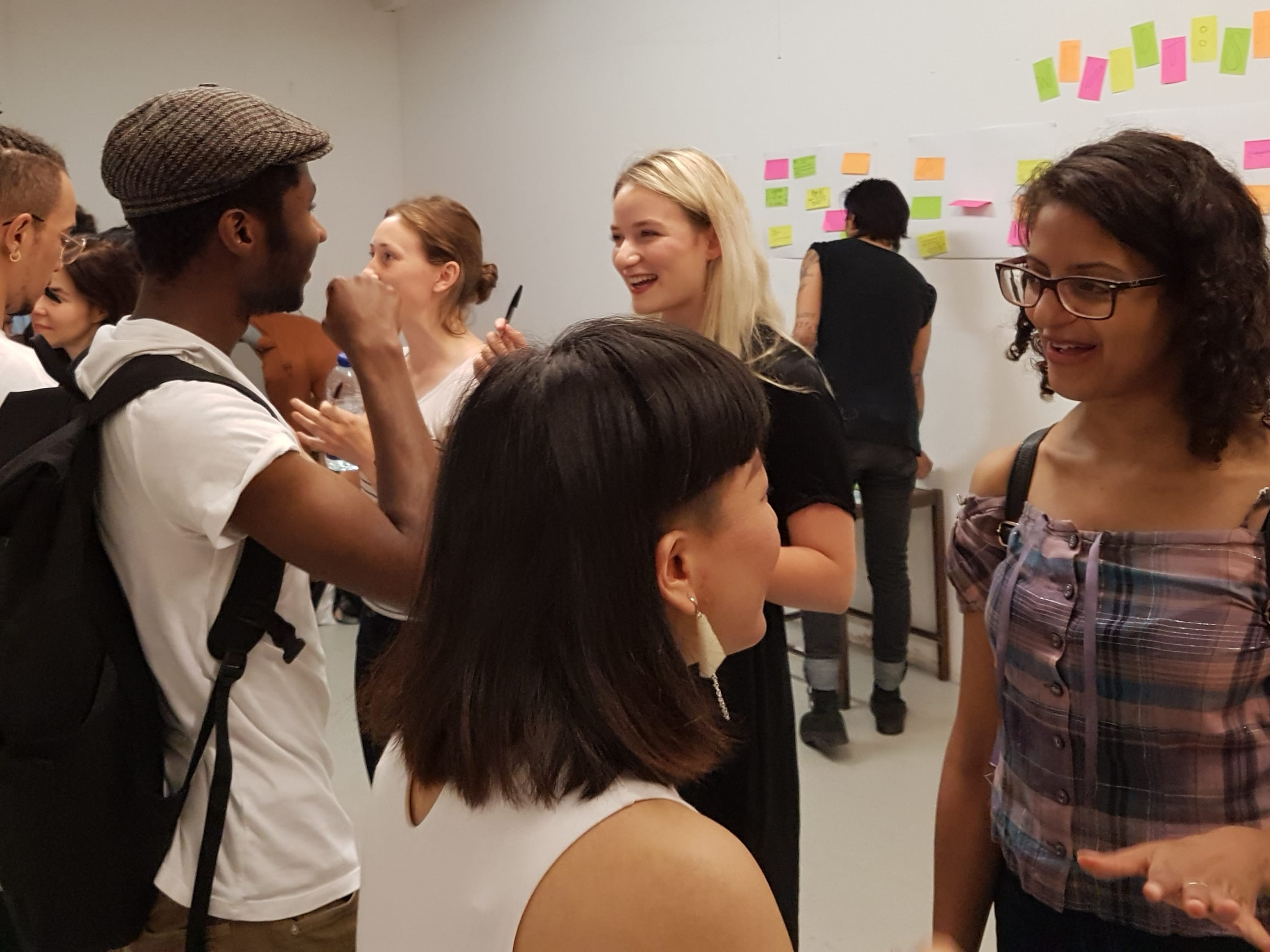 Students meeting at a networking event