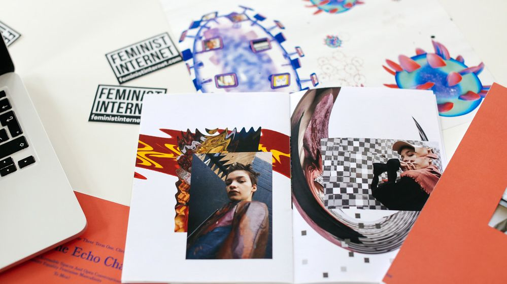 Fashion collage - visual communication for fashion banner