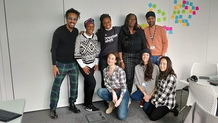 Group of staff from UAL's Creative Shift team