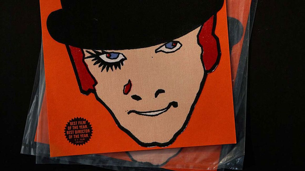 Iron-on patch, A Clockwork Orange, c1971, The Stanley Kubrick Archive, University of the Arts London Archives and Special Collections Centre
