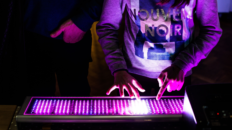 Interactive light keyboard