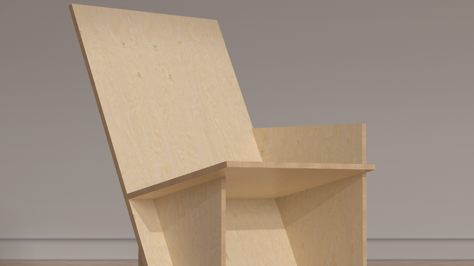 A plywood chair