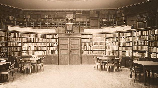 the Warburg Haus, reading room