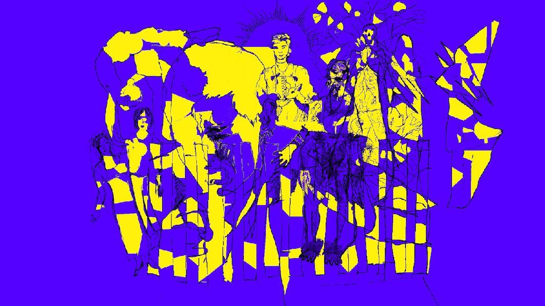 purple illustation