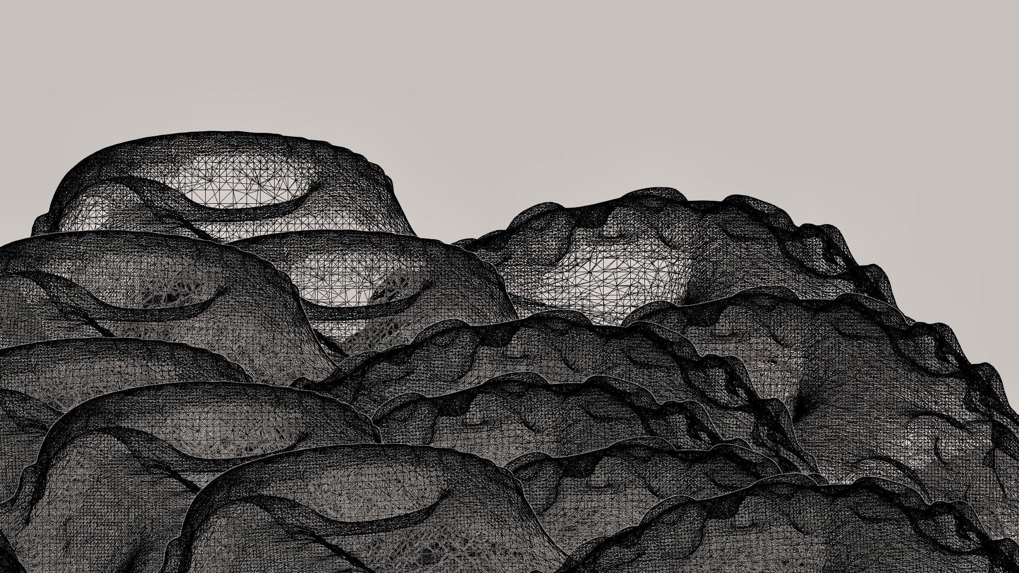 beige background with black net vectors