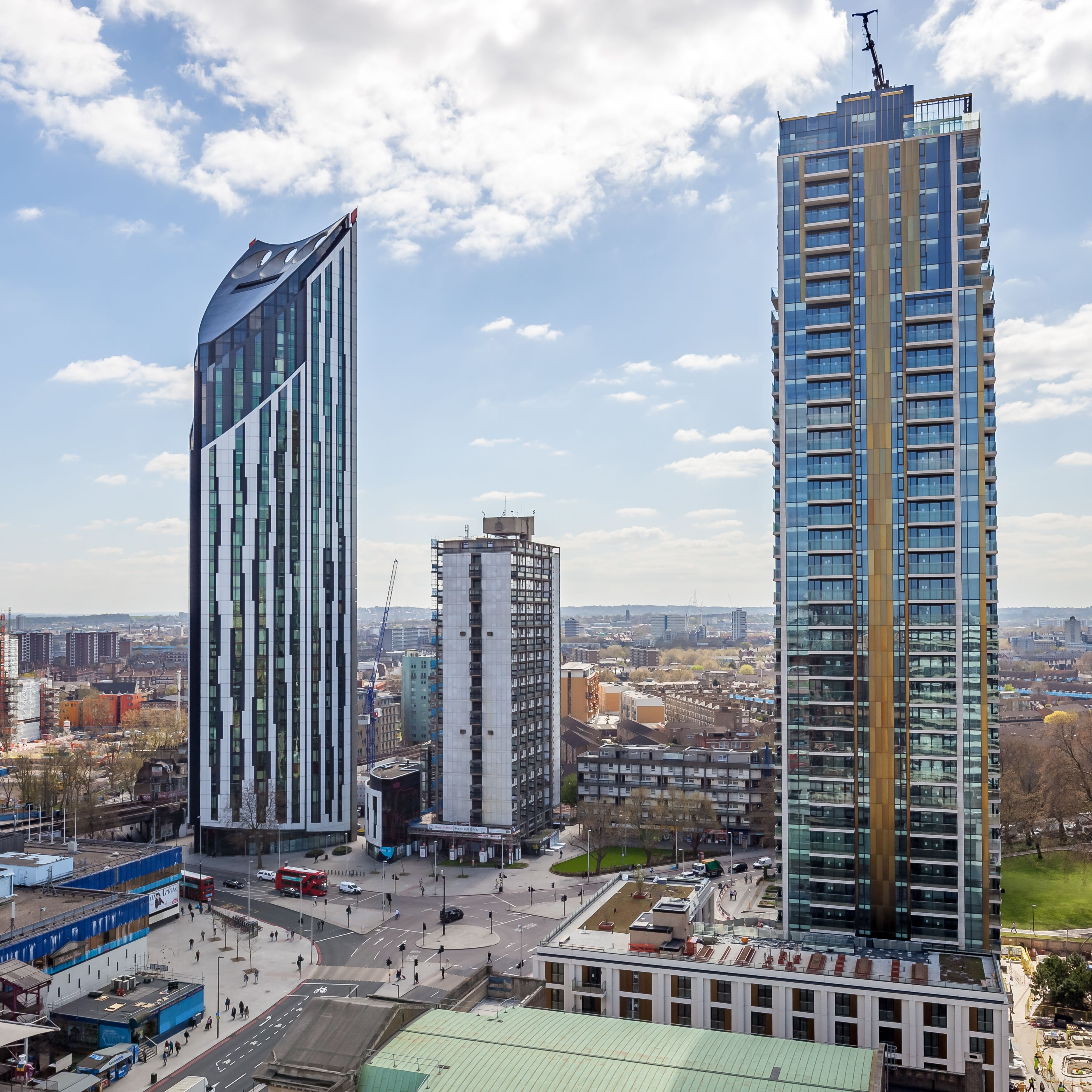 Skyline at Elephant and Castle