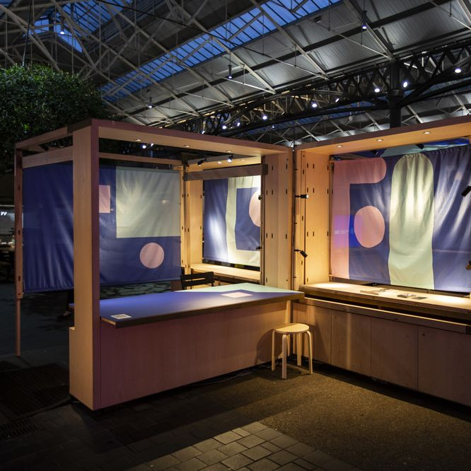 Photo of installation by Fashion Innovation Agency