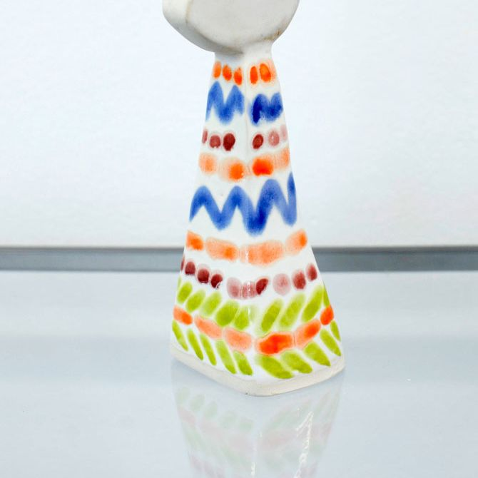 Ceramic figure by Freya Faulkner.