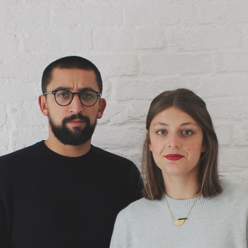 Portrait of two people