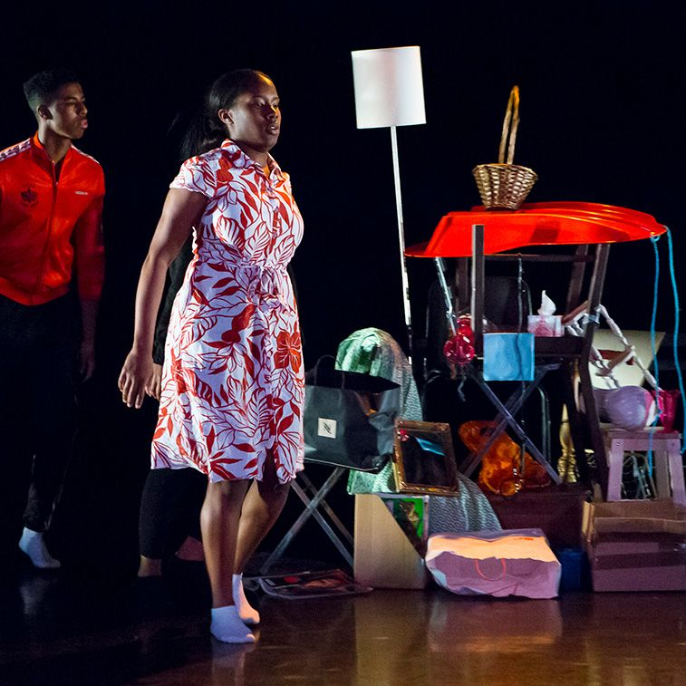 Work by BA Theatre Design student Katharine Davies Herbst.
