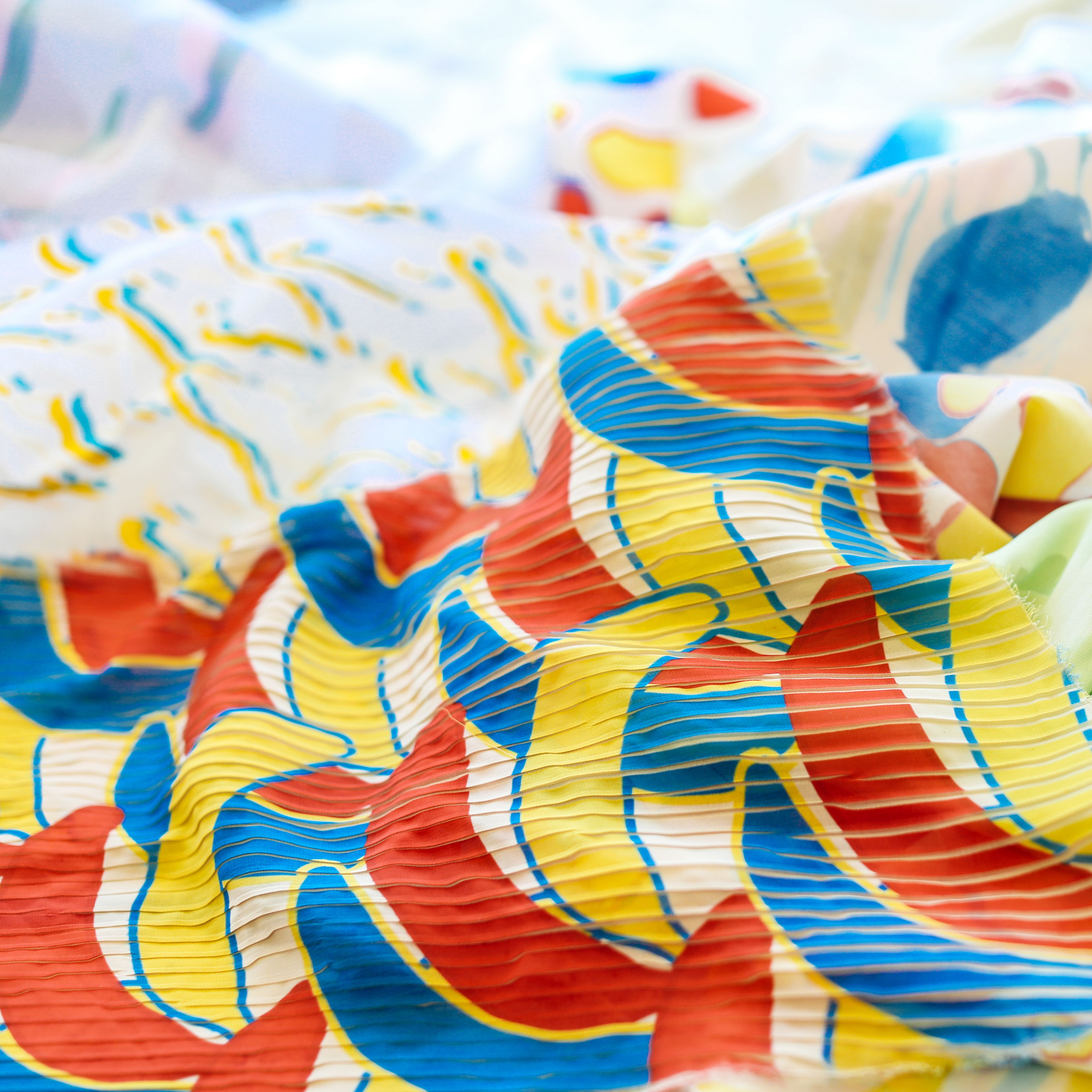 Colourful print on fabric
