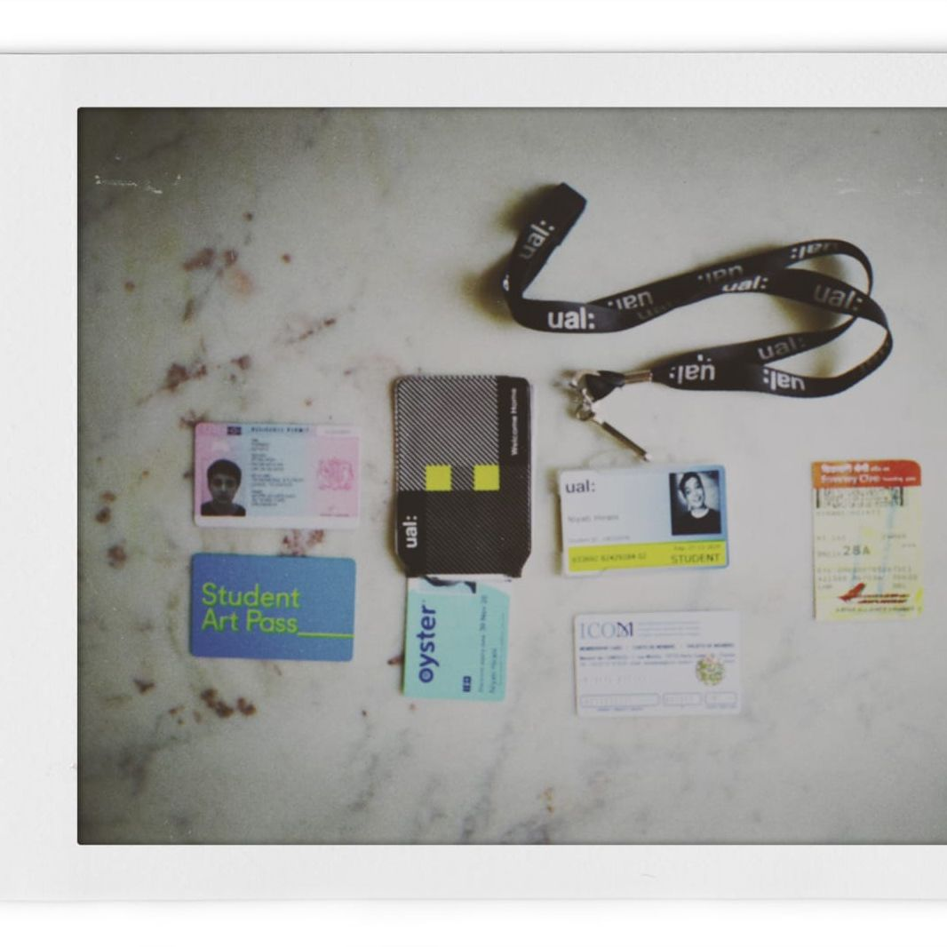 ephemera - oyster card and trinkets