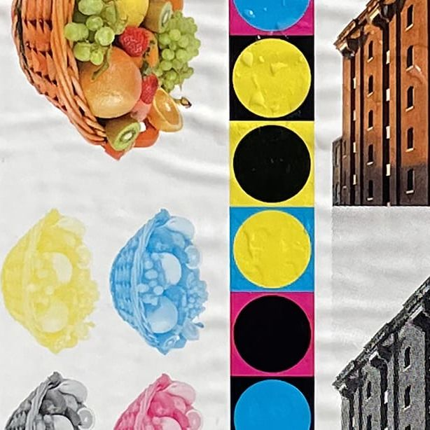 collage of granary square and fruit bowl