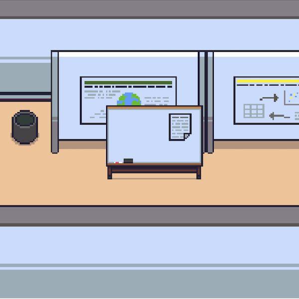 mpaint illustration of a studio