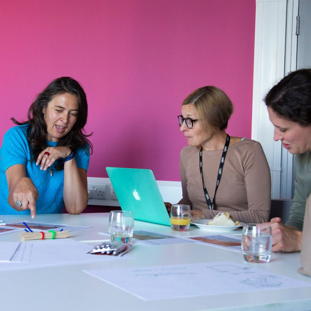 A discussion at the Social Design Institute workshop
