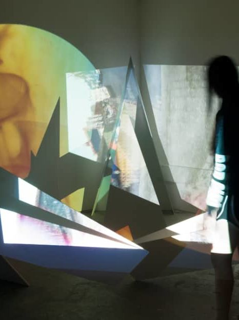 Light projections in dark room