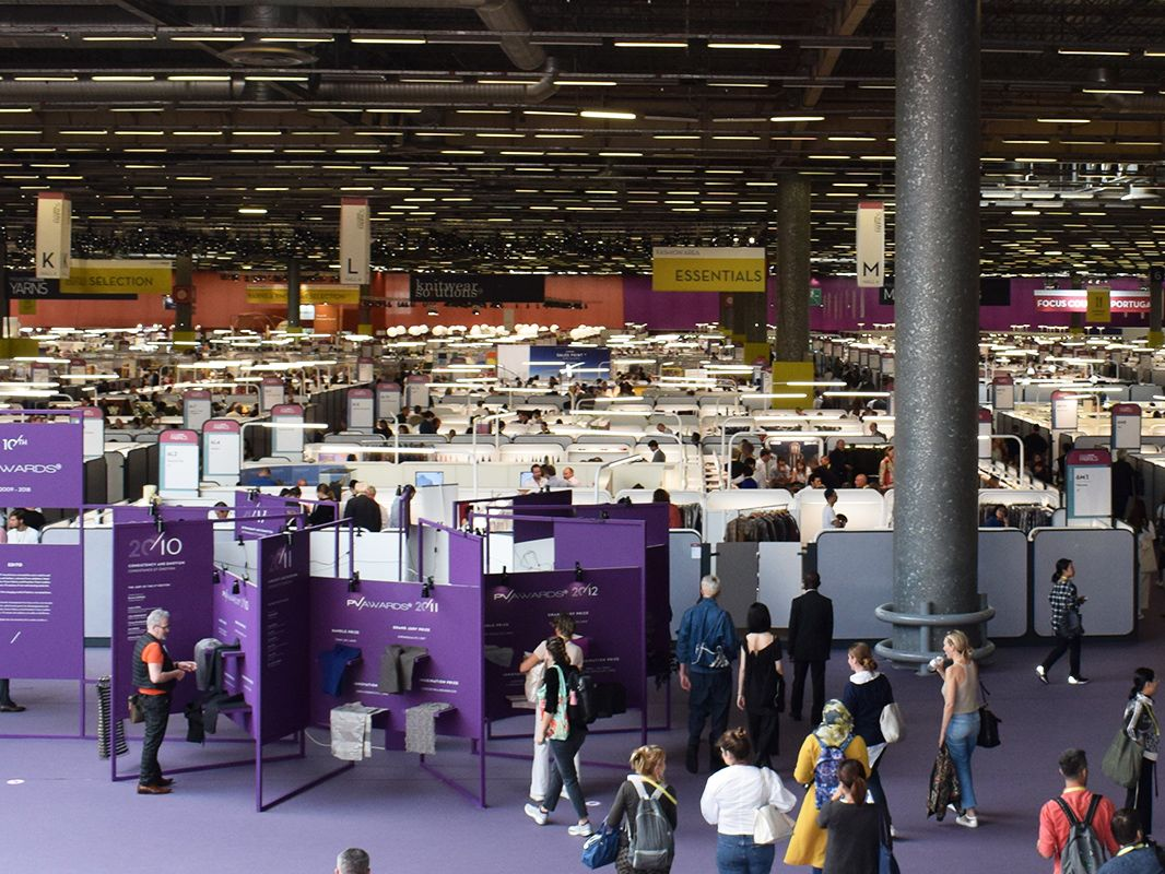 Aerial view of Premier Vision trade show