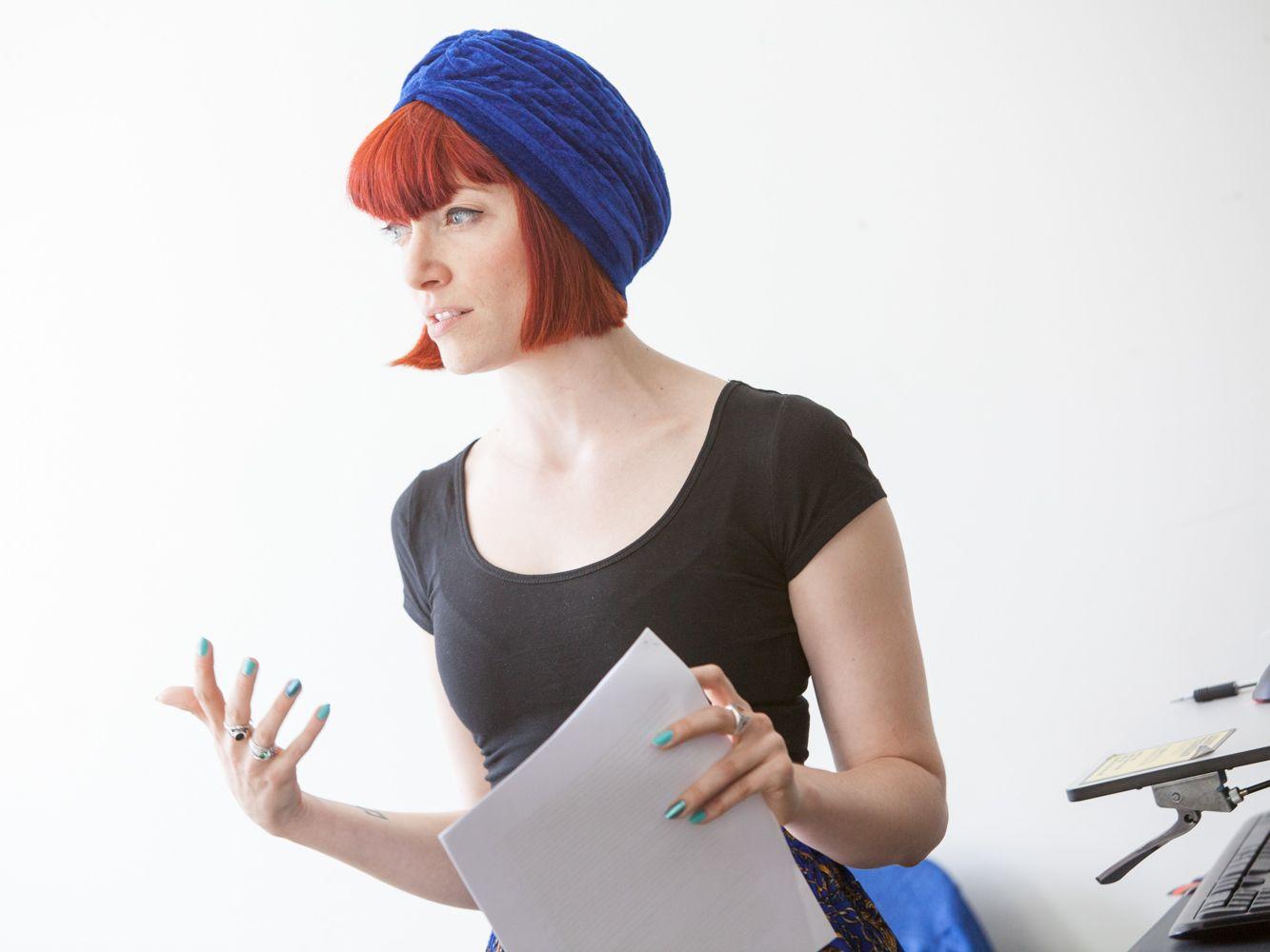 Course tutor Amber Butchart