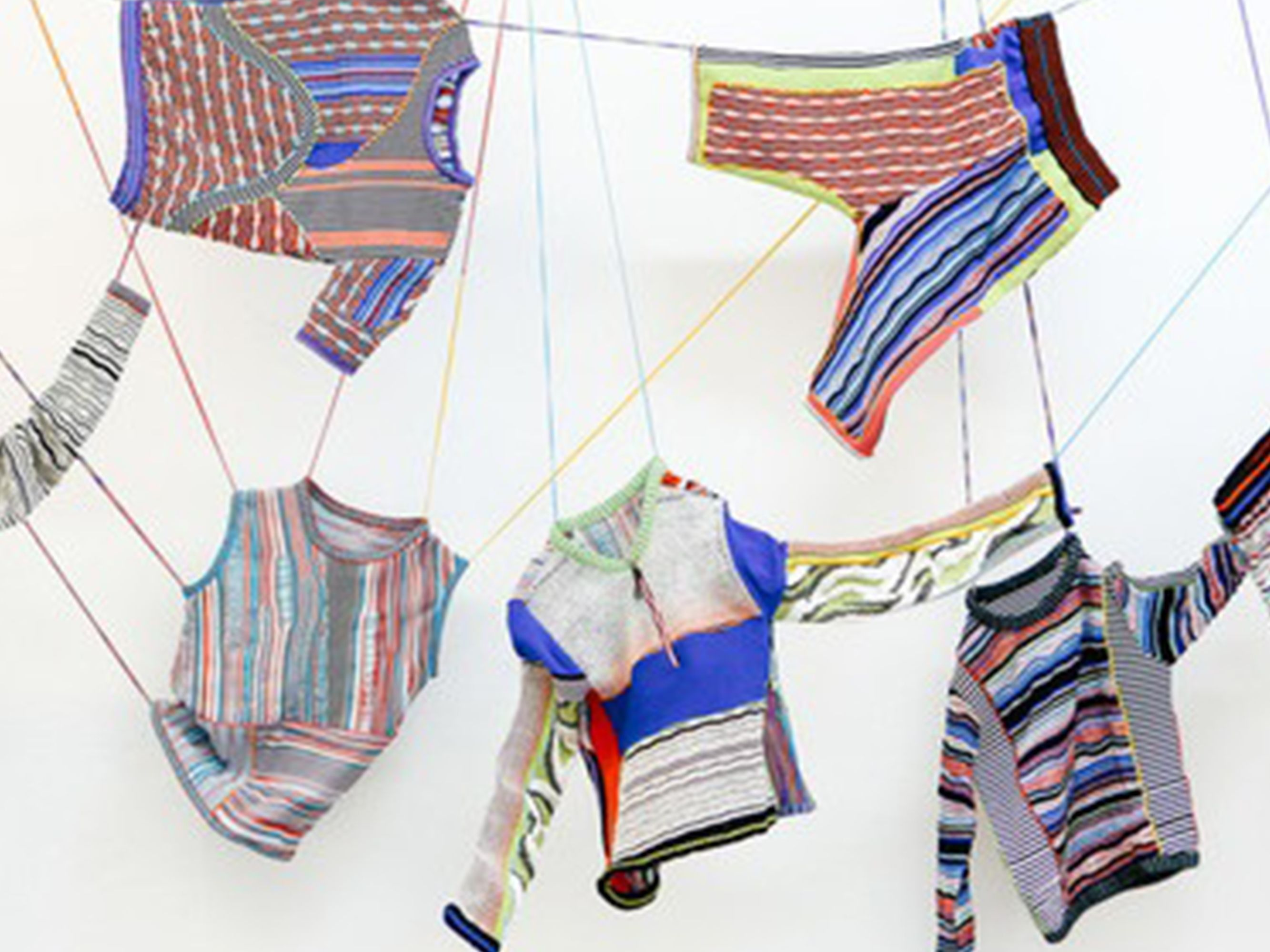 Art installation of clothes