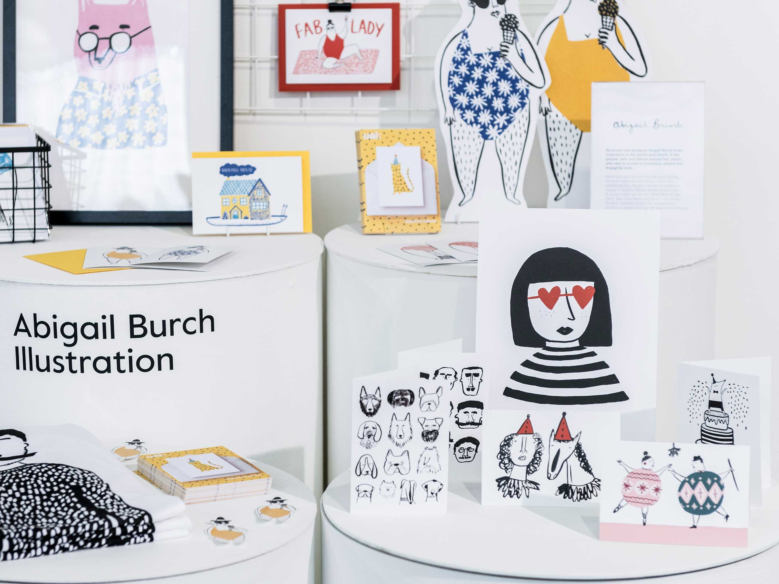 Trade show stand of illustrator Abigail Burch