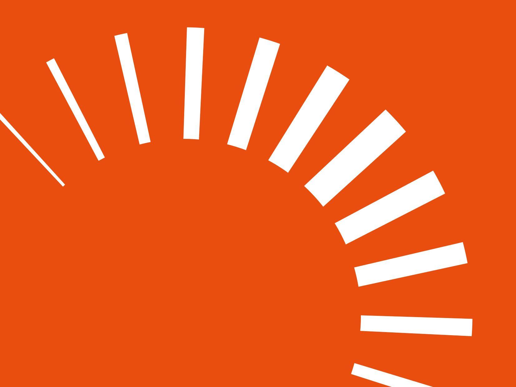 Decorative image of white dashed circles on orange background