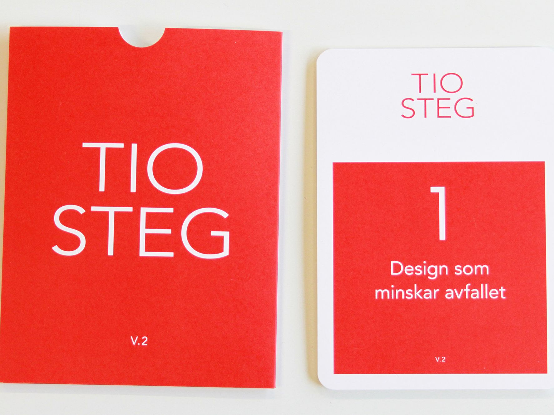 Swedish version of the design strategies card game design by the Centre for Circular Design.