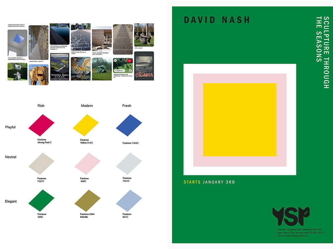 A concept identity for Yorkshire Sculpture Park.