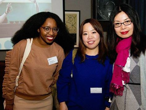Alumni at a networking event