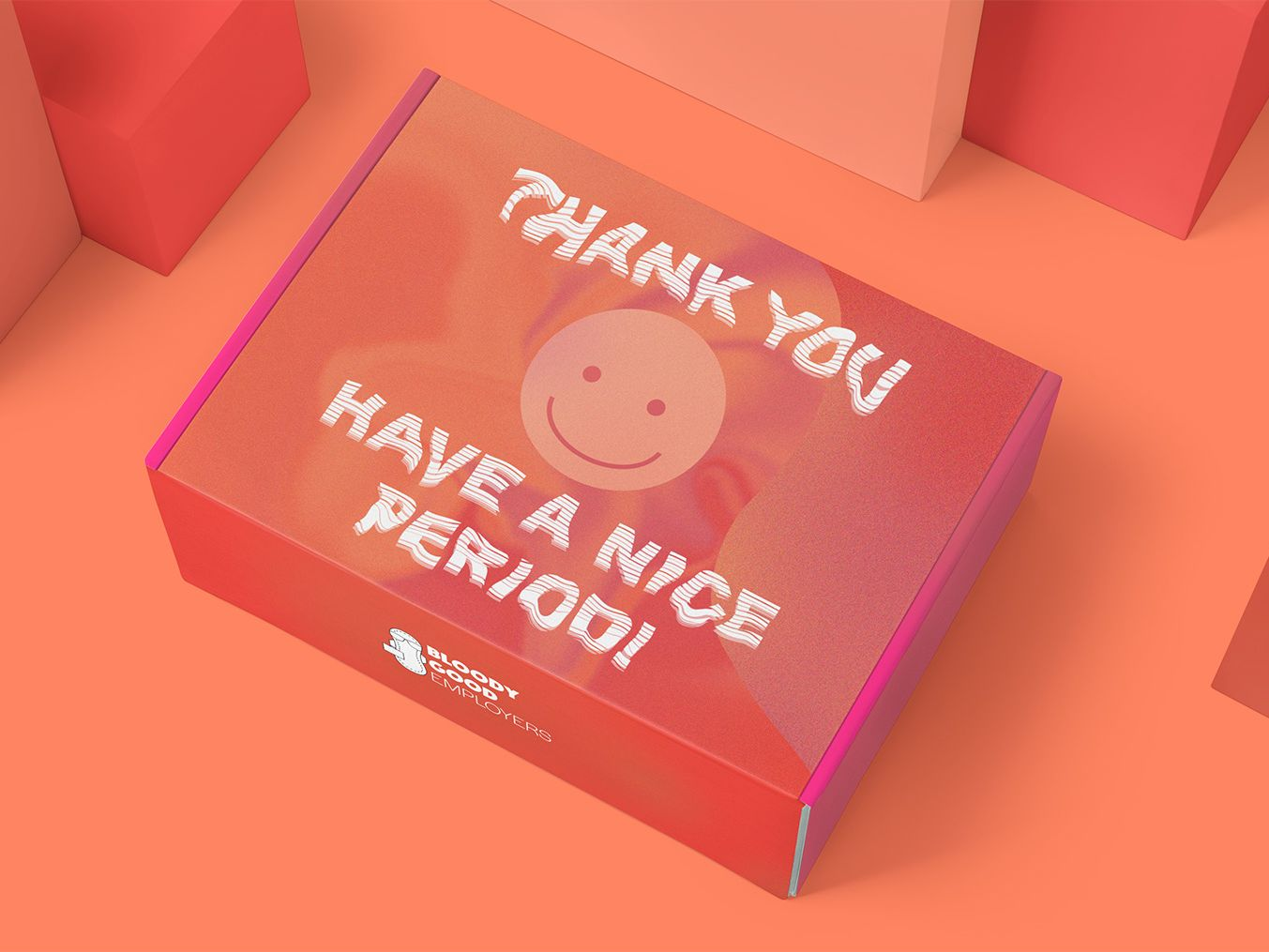 Concept packaging for a period care-box for employees.
