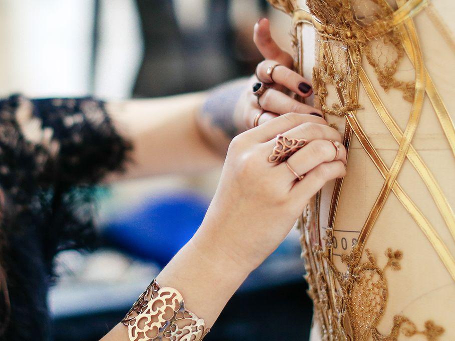 Designer Creating Clothing Garments