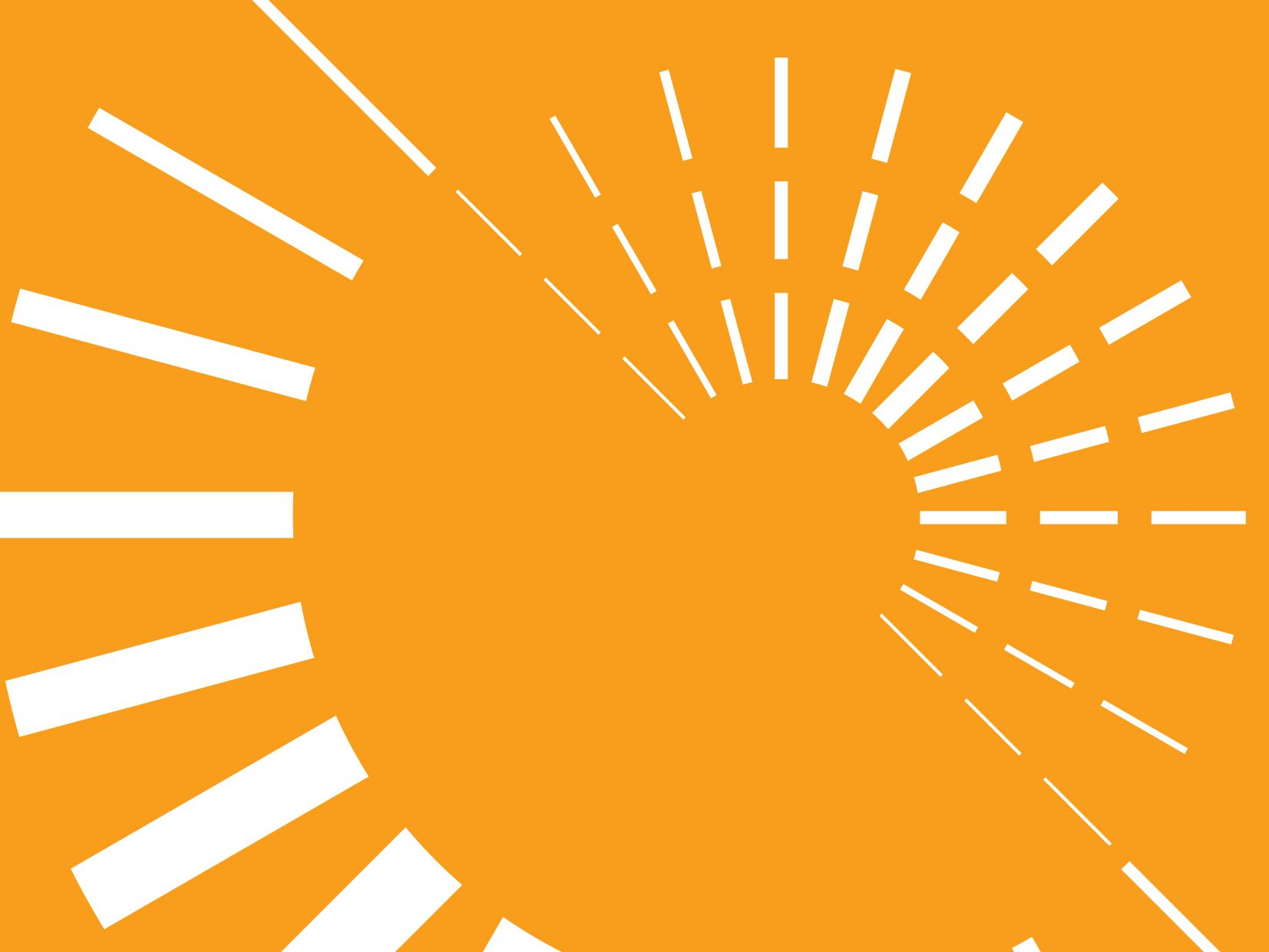 Decorative image of dashed white circles on orange background
