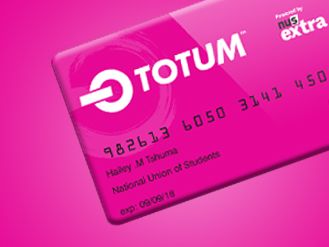 image of a pink card