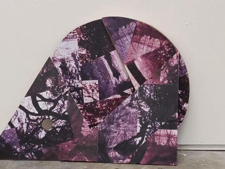 Example of student work - purple geometric shaped artwork