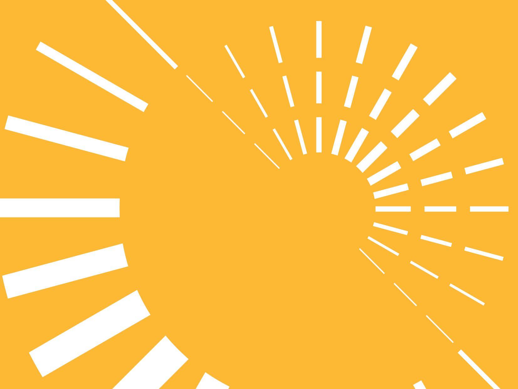 Decorative image of dashed white circles on yellow background