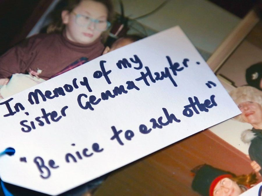 A still from Holly's winning documentary film, Gemma: My Murder.