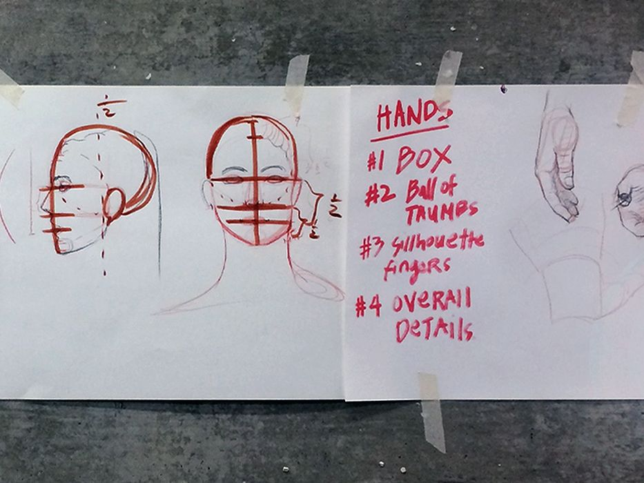 © Connie Lim, examples of drawing techniques