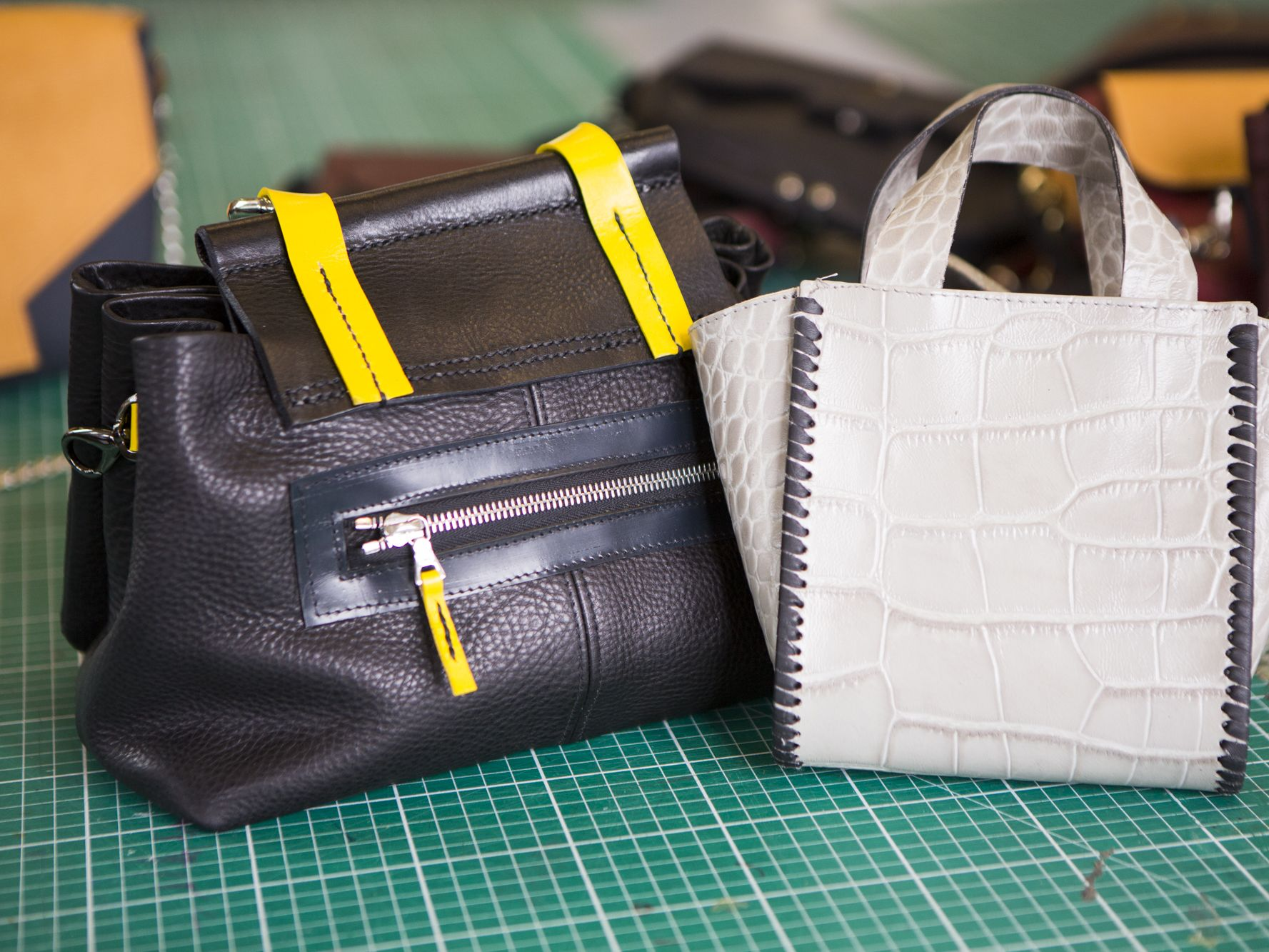 Handbags made by students